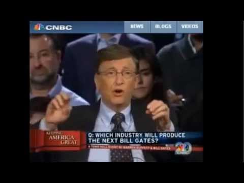 Bill Gates is asked, What Industry will produce the next Billionaire like himself, Energy!
