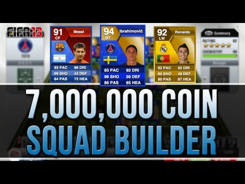 7.000.000 COIN SQUAD BUILDER WITH TOTS & SPECIAL CARD - FIFA 13 ULTIMATE TEAM!