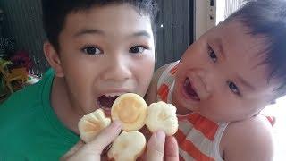 Đồ chơi trẻ em bé pin nướng bánh hình gấu ❤ PinPin TV ❤ Baby toys grilled pie bears