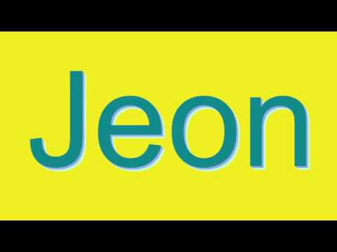Expand your vocabulary and learn how to say new words: http://www.dictionaryvoice.com/How_To_Pronounce_Jeon.html Please leave a Like, a Comment, and Share. Bookmark us and share: http://www.dicti...