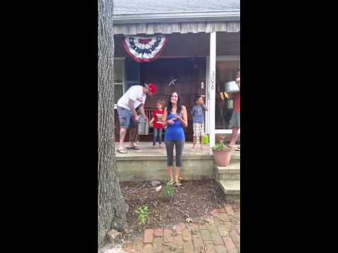 Lindsay and the ice bucket challenge