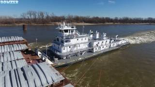 The M/V John H. MacMillan, Jr. Pushing 40 Barges