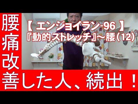 #96 『動的ストレッチ』腰(11)/筋肉痛改善ストレッチ・身体ケア【エンジョイラン】