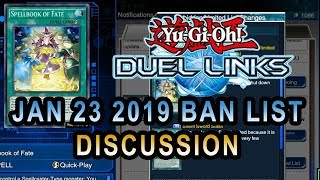 Duel Links Ban list For Jan 23 2019 Yugioh Discussion On new Ban List coming On DuelLinks
