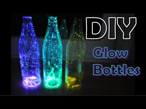 How to Make Glowing Bottles for a Blacklight