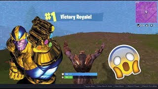 Fortnite: NEW THANOS GAMEPLAY+ VICTORY ROYALE. AVENGERS INFINITY THANOS. Mobile gameplay(IOS