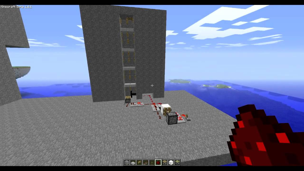 Ascensore minecraft