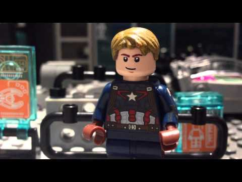 Lego Avengers 2 Age of Ultron ironman vs Captain America/Vision's birth shot for shot recreation