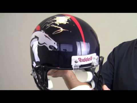 Peyton Manning Signed Denver Broncos Helmet - Replica - Manning Holo