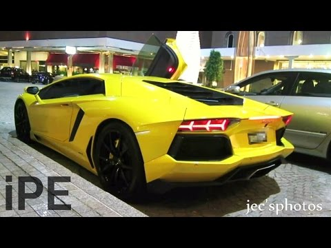 Lamborghini Aventador with iPE Exhaust - Startup and BRUTAL Acceleration + Backfire!