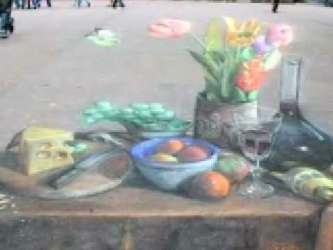 Julian Beever (Pavement Picasso) 3D Sidewalk Chalk Art Compilation