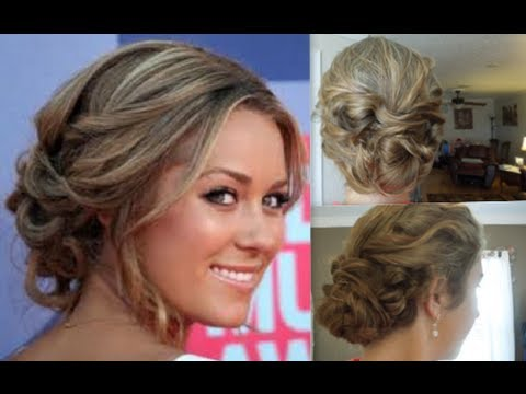 Lauren Conrad Inspired Curly Updo
