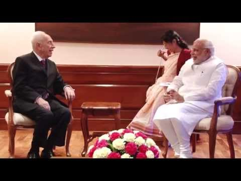Former President of Israel Shimon Peres calls on PM Modi