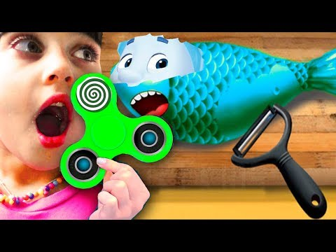 Play Fun Cooking Sushi СПИНЕР ГОТОВКА ЧЕЛЕНДЖ МАСТЕР СУШИ Kids Game TO-FU kids learn to prepare food