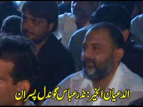 Zakir Haider abbas rizvi Bazar sham mouharram 2017 badomalhi