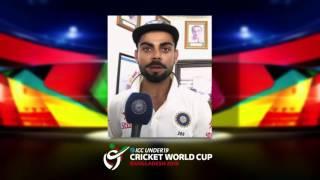 Virat Kohli Under 19 Cricket World Cup 2016 message