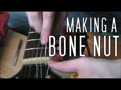 Making a Bone Nut for Guitar