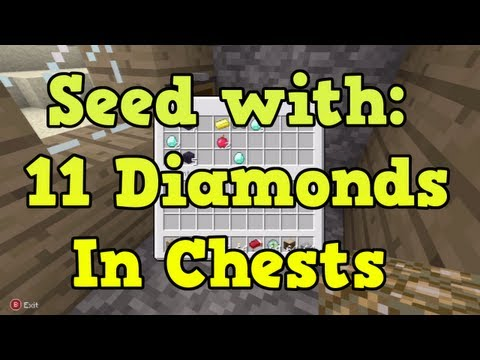 Minecraft Xbox 360 Seeds - Blacksmith Chests with 11 Diamonds