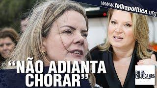Joice Hasselmann retruca petistas: 'Não tem choro nem vela! Vamos levar o Brasil a sério!'