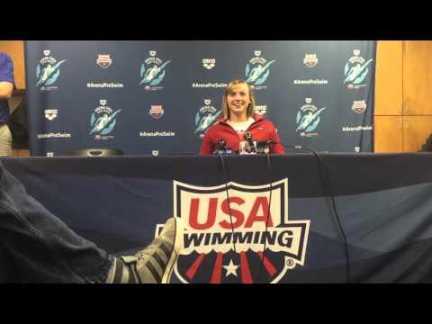 Katie Ledecky at Arena Pro Swim Series in Austin, TX
