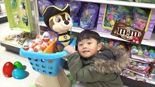 Doing Shopping at the SuperMarket and Hide and Seek with Chase Paw Patrol!