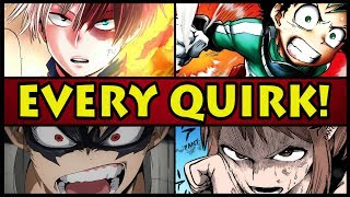 EVERY QUIRK EXPLAINED! | Class 1-A (My Hero Academia / Boku no Hero Academia)