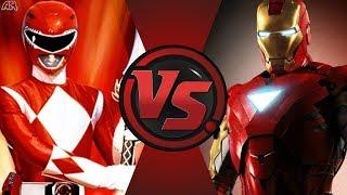 Red Ranger vs Iron Man (Power Rangers vs Marvel)! Cartoon Fight Night Episode 30!