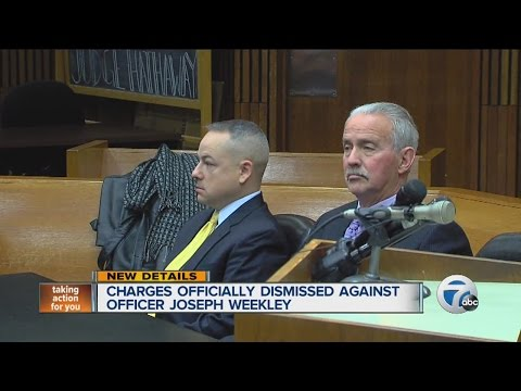 Charges officially dismissed against officer Joseph Weekley