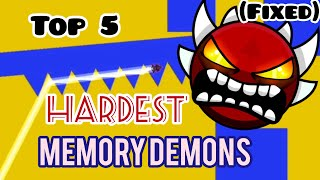 (Fixed) Top 5 hardest memory demons | gd 2.1