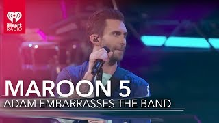 Adam Levine Embarrases His Band! | iHeartRadio Album Release Party
