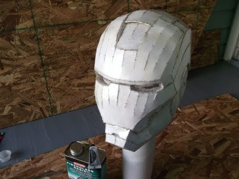 IRON MAN HELMET BUILD PART 2 ~ RESIN & FIBERGLASS