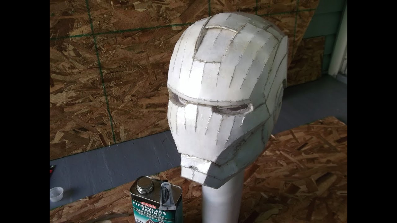 Iron Man Helmet Build Part 2 Resin Fiberglass Youtube