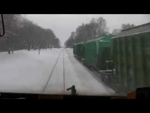 В кабине ТЭП70 120 км/ч через станций / In the cab of a TEP70 loco 120 km/h through stations
