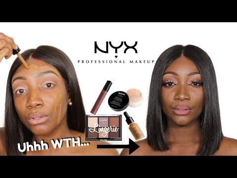 FULL FACE USING ONLY NYX PRODUCTS | GOOD DRUGSTORE MAKEUP OR TRASH ?