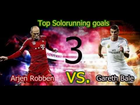 SPEED BATTLE- Arjen Robben vs Gareth Bale / Best 5 Solorunning goals / Who's better and faster?
