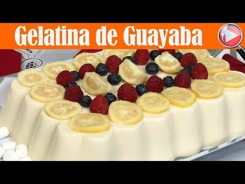 Gelatina de Yogurt de Guayaba y Tres Leches - Recetas en Casayfamiliatv