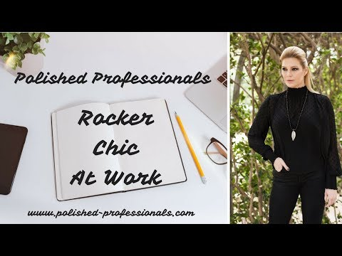 Rocker Chic at Work - How to Wear Lace and Studs to the Office