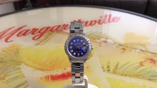 Rolex Ladies Date Blue Diamond Dial