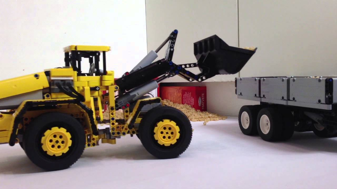 lego technic moc volvo l350f front loader youtube. Black Bedroom Furniture Sets. Home Design Ideas