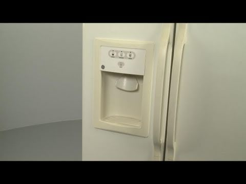 Accessing the Dispenser Components on a GE/Hotpoint Refrigerator