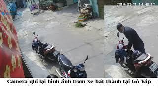 Camera ghi hình trộm xe bất thành tại Gò Vấp - Góc cảnh giác, lắp camera không bao giờ thừa