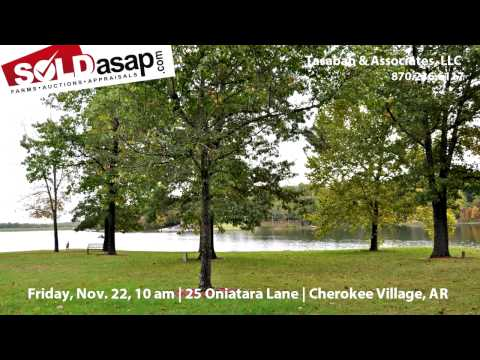 Lake Home and Personal Property Auction in Cherokee Village, Arkansas!