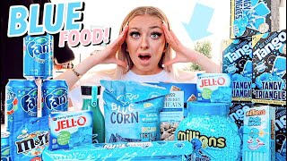 I ONLY ate BLUE foods for 24 hours!!