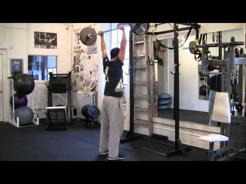 Exercise for MMA Power: Push Press Image 1