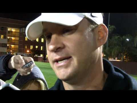 2013 USC Football Spring Practice #2 - Lane Kiffin Presser