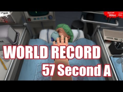 WORLD RECORD: 57 Second Double Kidney Transplant | Surgeon Simulator 2013