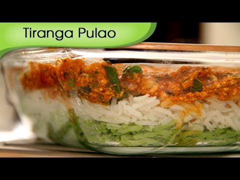 Tiranga Pulav - Vegetarian Tricolor Rice - Recipe by Ruchi Bharani...