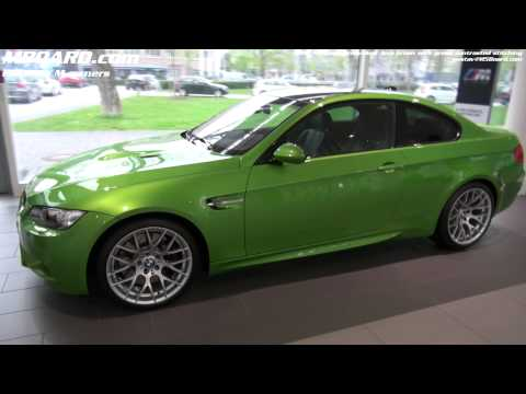 BMW M3 Individual Java Green with contrasting stitching green on black leather interiour