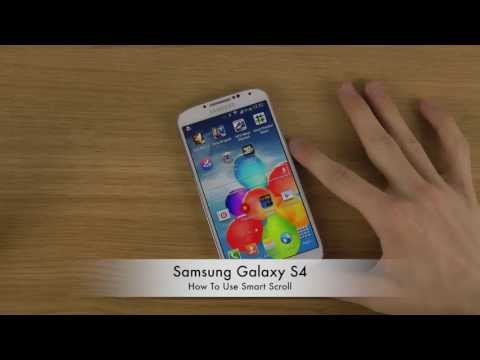 How To Use Smart Scroll Samsung Galaxy S4