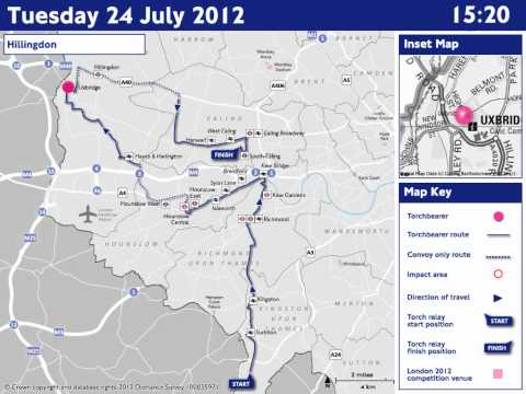 ROADS: Tuesday 24 July - Olympic Torch Relay